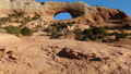 Aerial image of the southwestern part of the United States Wilson Arch Rock through the Arch of the Big Rock Utah 47980350