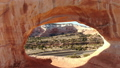 Aerial image of the southwestern part of the United States Wilson Arch Rock through the Arch of the Big Rock Utah 47980351