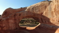 Aerial image of the southwestern part of the United States Wilson Arch Rock through the Arch of the Big Rock Utah 47980352