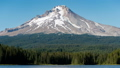 Time lapse image of Mount Hood that reflects on the lake surface Oregon State 47982938