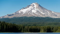 Time lapse image of Mount Hood that reflects on the lake surface Oregon State 47982940