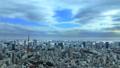 東京風景東京鐵塔,東京灣覆蓋天空流動的雲彩時間間隔放大 48000656