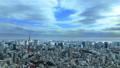 東京風景東京塔,東京灣覆蓋天空的雲流動時間流逝修復 48000661
