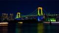 时间间隔间隔射击东京彩虹桥点亮夜视图Odaiba倾斜 48023684