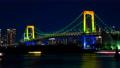 时间间隔间隔拍摄东京彩虹桥点亮夜景Odaiba Zoom 48023685