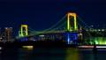 时间间隔间隔射击东京彩虹桥点燃夜视图Odaiba平底锅射击 48023687
