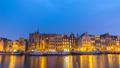 Amsterdam Netherlands time lapse city skyline 48026178