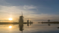 Dutch Windmill sunrise time lapse at Kinderdijk 48026180