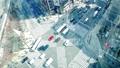 東京時間流逝銀座Arashiyabashi交叉路口俯視車流和人流Calarage 48029168
