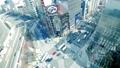東京時間流逝銀座Arashiyabashi交叉路口俯視車流和人流Calarage 48029170