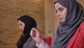 Closeup shoot of two young beautiful muslim female 48037875