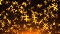 Many gold crosses are in space, 3d rendering background, golden explosion of particles, computer 48038238