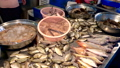 Traditional Thai sea food market, with fresh seafood 48086593