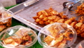 Traditional Thai sea food market, with fresh seafood 48086605