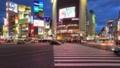 《東京都》渋谷駅前スクランブル交差点・トワイライト夜景《タイムラプス・ティルトダウン》 48089510