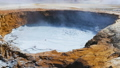 Boiling mud at geyser in Hverir, Iceland 48093525