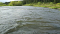 Rapid current of river in summer day 48118080