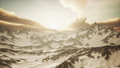 Panorama of High Snow Mountains at Sunset 48118492