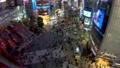 《東京都》渋谷駅前スクランブル交差点・夜景《タイムラプス・ズームアップ》 48128832