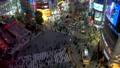 《東京都》渋谷駅前スクランブル交差点・夜景《タイムラプス・パン》 48128834