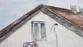 Drawing of the house. Shooting in the movement. 48130289