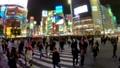 《東京都》渋谷駅前スクランブル交差点・夜景《タイムラプス》 48139605