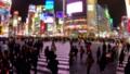 """""""東京""""澀谷站前爭奪路口,夜景 48139608"""