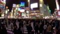 """""""東京""""澀谷站前爭奪路口,夜景 48140299"""