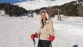 woman, ski, mountain 48154474