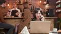 female, laptop, smartphone 48163606