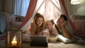 family, tablet, child 48197186
