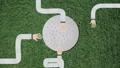 Long Hand Assembling a Golf Ball Cutout 48198101