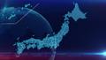 日本地图蓝色背景 48207440