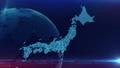 日本地图蓝色背景 48207441