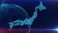 日本地图蓝色背景 48207442