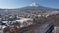 富士吉田和富士山的雪景(時間流逝) 48230883