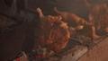 老挝万象摊位的烤鸡肉串(2018年8月拍摄) 48295901