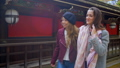 Attractive international girls walking at temple. 48312929