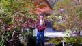 Woman walking through beautiful fall in Kyoto. 48312930