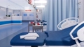 Empty hospital bed in emergency room Close up 3D 48327396