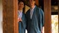 中間資深夫婦溫泉旅行Yukata Ryokan圖像 48350262