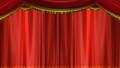 オペラカーテン 開く 背景透過 48387739