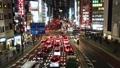 新宿南出口汽車時間流逝橋接在夜視圖的Koshu高速公路 48409237