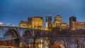 Key bridge at night in Washington DC 48434575