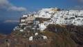 Aerial panorama of Skaros rock and villas in Imerovigli, Santorini 48436127