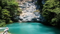Beautiful blue lake in Abkhazia. The Landmark 48450528