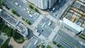 东京·大都会交叉口·时间流逝·真正的鸟瞰图·人群缩小绿色和阳光 48453072