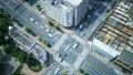 东京·大都会交叉口·时间流逝·真实概览拍摄·人群流动的绿色和阳光向下倾斜 48453096