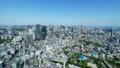 東京風景・タイムラプス・春・新緑と青空・ティルトアップ 48468847
