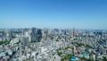 東京風景・タイムラプス・春・新緑と青空・ズームイン 48468851